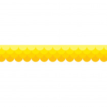 CTP0180 - Ombre Yellow Scallops Borders Paint in Border/trimmer