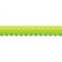 CTP0181 - Ombre Lime Green Scallops Borders Paint in Border/trimmer