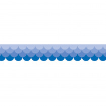 CTP0183 - Ombre Blue Scallops Borders - Paint in Border/trimmer
