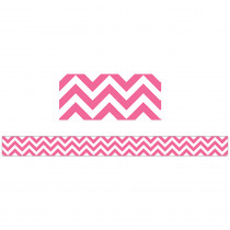 CTP0192 - Pink Chevron Border in Border/trimmer