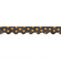 CTP0223 - Dots On Chalkboard Orange Borders in Border/trimmer