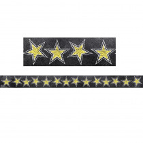 CTP0241 - Chalk It Up Gold Stars Border in Border/trimmer