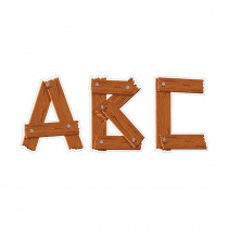 CTP0289 - Timber Punchout Uppercase Letters in Letters
