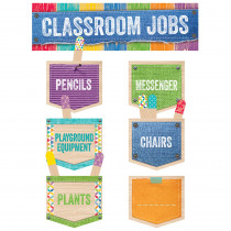 CTP0600 - Classroom Jobs Mini Bulletin Board Set Upcycle Style in Miscellaneous