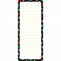CTP0627 - Dots On Black Note Pad in Note Pads
