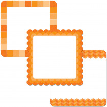 CTP0654 - Orange Chart Cards 10In Designer Cut Outs - Paint in Accents