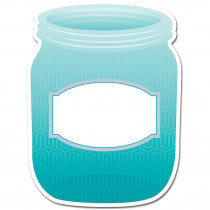 CTP0657 - Turquoise Mason Jar 10In Designer Cut Outs - Paint in Accents