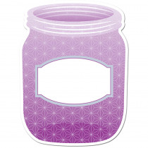 CTP0659 - Purple Mason Jar 10In Designer Cut Outs - Paint in Accents