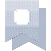 CTP0660 - Slate Gray Pennants 10In Designer Cut Outs - Paint in Accents