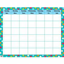 CTP0977 - Dots On Turquoise Calendar Chart in Calendars