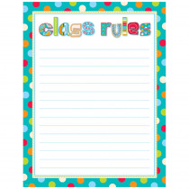 CTP0978 - Dots On Turquoise Class Rules Chart in Miscellaneous