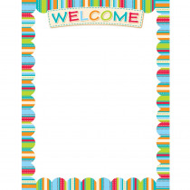 CTP0980 - Dots On Turquoise Welcome Chart in Miscellaneous