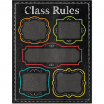 CTP1020 - Class Rules Chart - Chalk in Classroom Theme