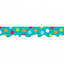 CTP1038 - Dots On Turquoise Wavy Border in Border/trimmer