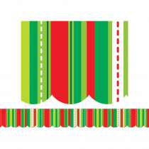CTP1110 - Holiday Stripes And Stitches Border in Holiday/seasonal