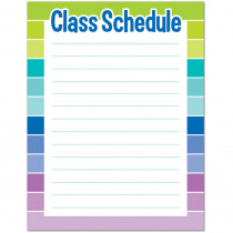 CTP1128 - Class Schedule Chart - Paint in Classroom Theme