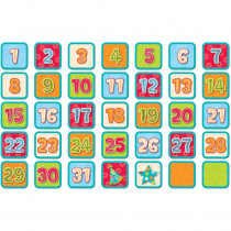 CTP1240 - Dots On Turquoise Calendar Days in Calendars