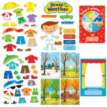 CTP1640 - Dress For The Weather Bulletin Board Set in Miscellaneous
