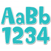 CTP1946 - Turquoise Chevron 4In Designer Letters in Letters