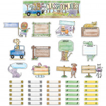 CTP2185 - Safari Friends Class Jobs Mini Bulletin Board Set in General