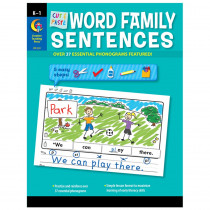 CTP2217 - Cut & Paste Word Family Sentences in Word Skills