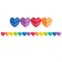 CTP2678 - Rainbow Hearts Border in Holiday/seasonal