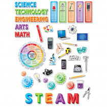 CTP2962 - Stem/Steam Bulletin Board Set in Classroom Theme