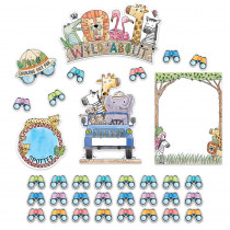 CTP3997 - Safari Friends Wild About Bulletin Board Set in General