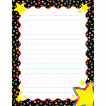 CTP4341 - Dots On Black With Stars Sm Chart in Classroom Theme