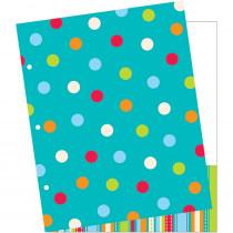 CTP4345 - Dots On Turquoise 2 Pocket Folder in Folders