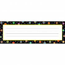 CTP4499 - Dots On Black Name Plates in Name Plates