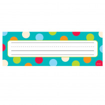 CTP4521 - Dots On Turquoise Name Plates in Name Plates