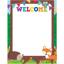 CTP5280 - Woodland Friends Welcome Chart in Classroom Theme
