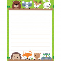 CTP5295 - Woodland Friends Blank Chart Lined in Classroom Theme