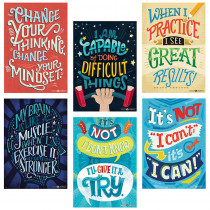 CTP5692 - Inspire U Posters 6 Pack Whats Your Mindset in Inspirational