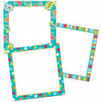 CTP6244 - Dots On Turquoise Chart Cards 10In Designer Cut-Outs in Accents