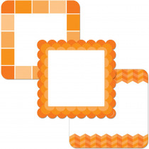 CTP6494 - Orange Cards 6In Designer Cut Outs Paint in Accents