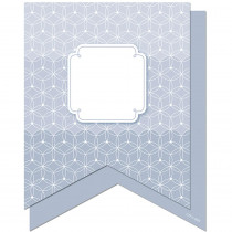 CTP6500 - Slate Gray Pennants 6In Designer Cut Outs - Paint in Accents