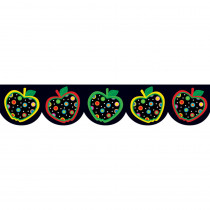 CTP6515 - Dots On Black Apples Border in Border/trimmer
