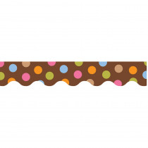 CTP6516 - Dots On Chocolate Border in Border/trimmer
