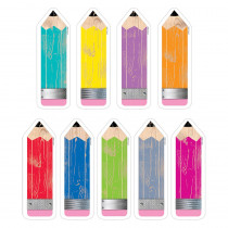 CTP6592 - Pencils 6In Cut Outs Upcycle Style in Accents