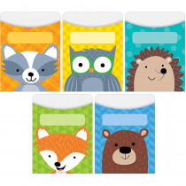 CTP6744 - Woodland Friends Library Pockets Standard Size in Library Cards