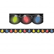 CTP6808 - Holiday Lights In Chalk Border in Holiday/seasonal