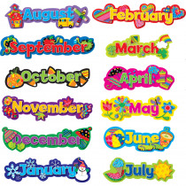 CTP6913 - Poppin Patterns Seasonal Months Of The Year Calendar Headlines in Calendars