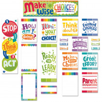 CTP6952 - Behavior Clip Chart Mini Bulletin Board Set Paint in Motivational