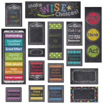 CTP6960 - Behavior Clip Chart Mini Bulletin Board Set Chalk in Motivational