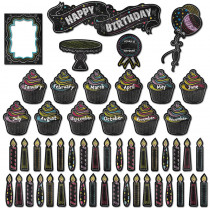 CTP6961 - Happy Birthday Mini Bulletin Board Set - Chalk in Miscellaneous