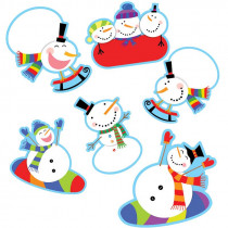 CTP7027 - Snowmen 10In Designer Cut Outs in Holiday/seasonal