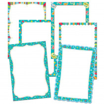 CTP7053 - Dots On Turquoise Mini Charts Bulletin Board Set in Classroom Theme