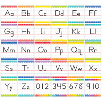 CTP7055 - Traditional Manuscript Alphabet Bulletin Board Set Painted Palette in Language Arts